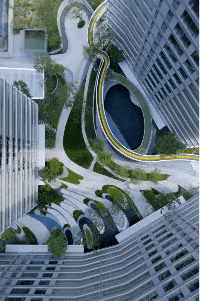 行云流水:书法艺术在大区设计中的现代演绎|中国铁建.西派浣花?