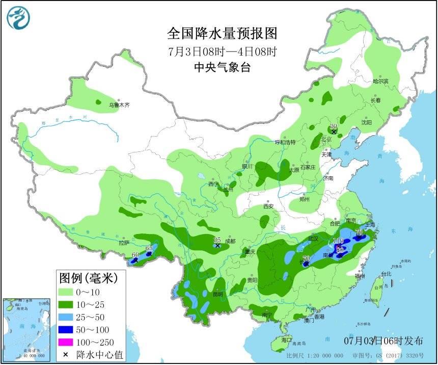 连续暴雨预警中断中央气象台今晨解除暴雨蓝色预警