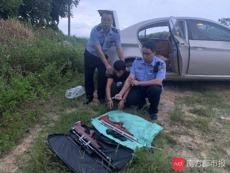 江门男子自制气枪打猎,民警现场发现2只被猎杀的保护鸟类