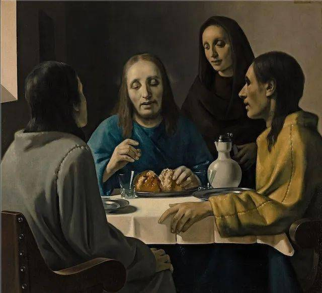 米格伦所画《伊默斯晚餐》