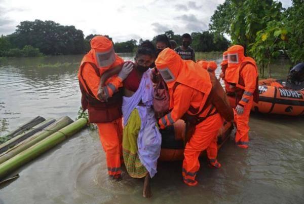 印度阿萨姆邦的洪水已经造成110人死亡,540万人受灾