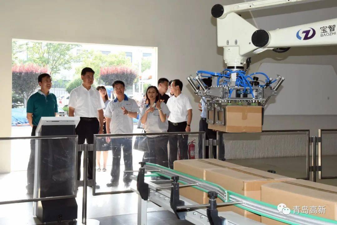 王波调研青岛高新区重点项目和企业