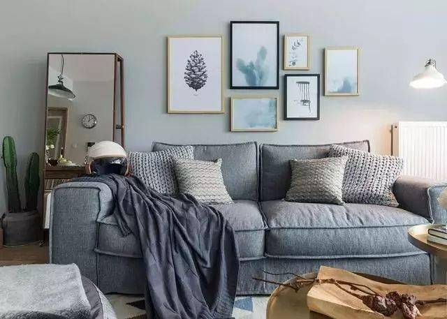 小户型也能凹造型,小户型沙发配景墙设计!