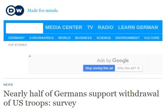 美国撤离1.2万美军施压德国,多数德国民众的反应是:走好!_德国新闻_德国中文网