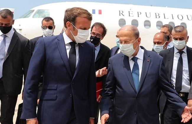 法国总统马克龙抵达贝鲁特:法国将优先向黎巴嫩人民提供援助