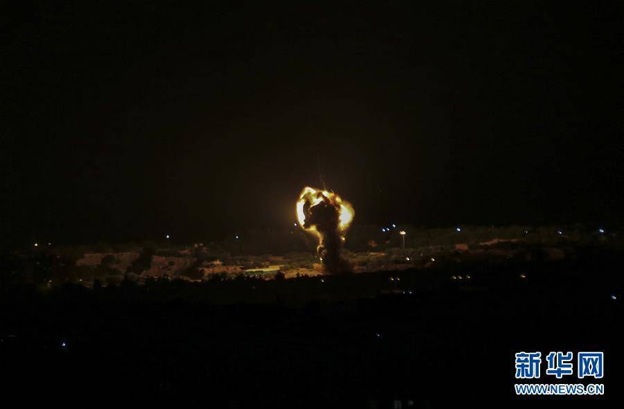 以军战机轰炸加沙地带哈马斯军事目标