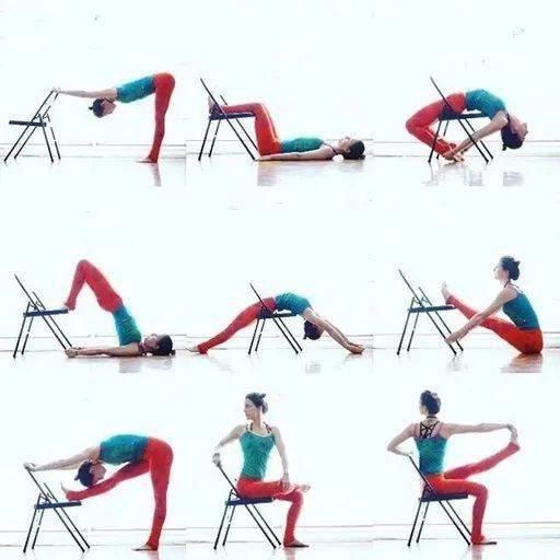 坐在椅子上的瑜伽拉伸,每天必须练一遍!超简单哦