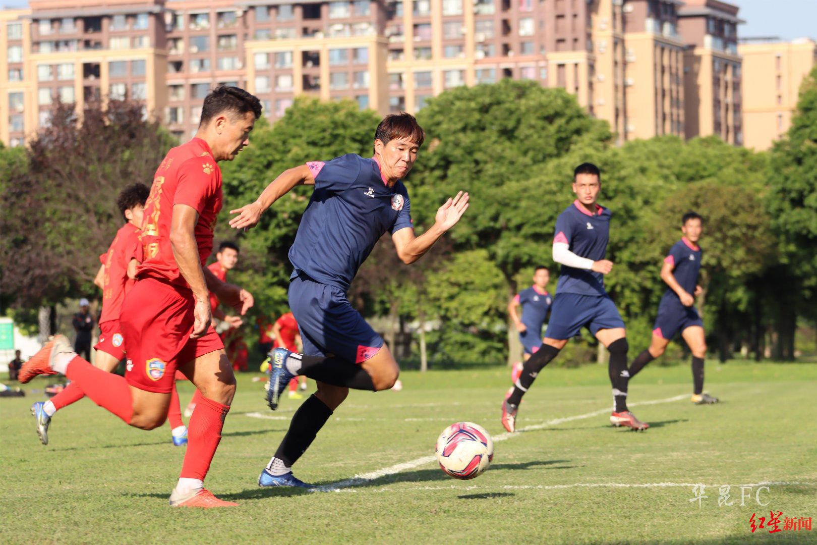 新军四川华昆热身赛击败中甲队,前四川FC球员终于可以放心踢球了!