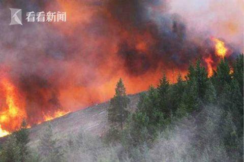 美国西部野火肆虐 烟尘飘到8000公里外欧洲北部