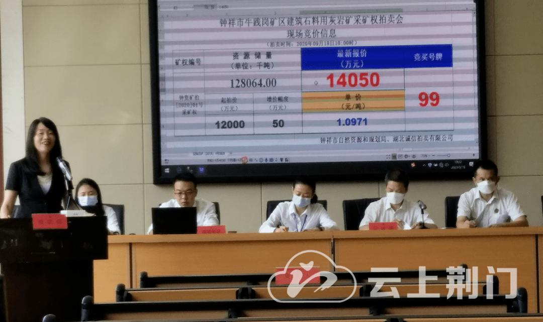 湖北省第一次矿业权拍卖在荆门乐城落下