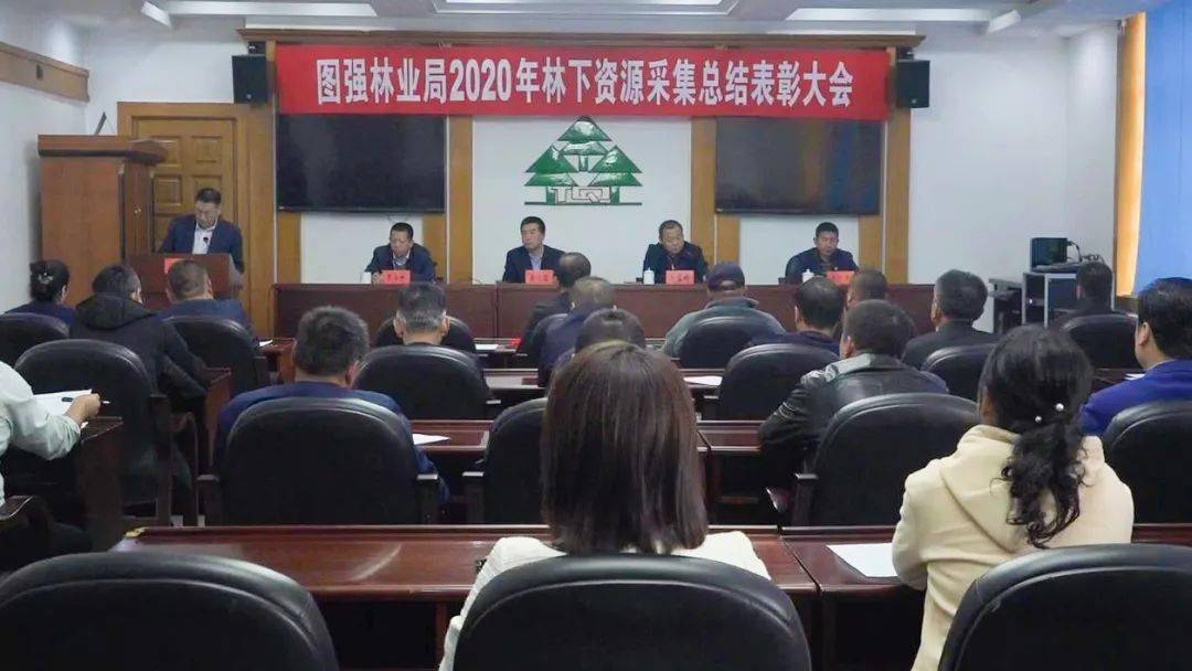图强林业局2020年林下资源采集总结表彰大会召开