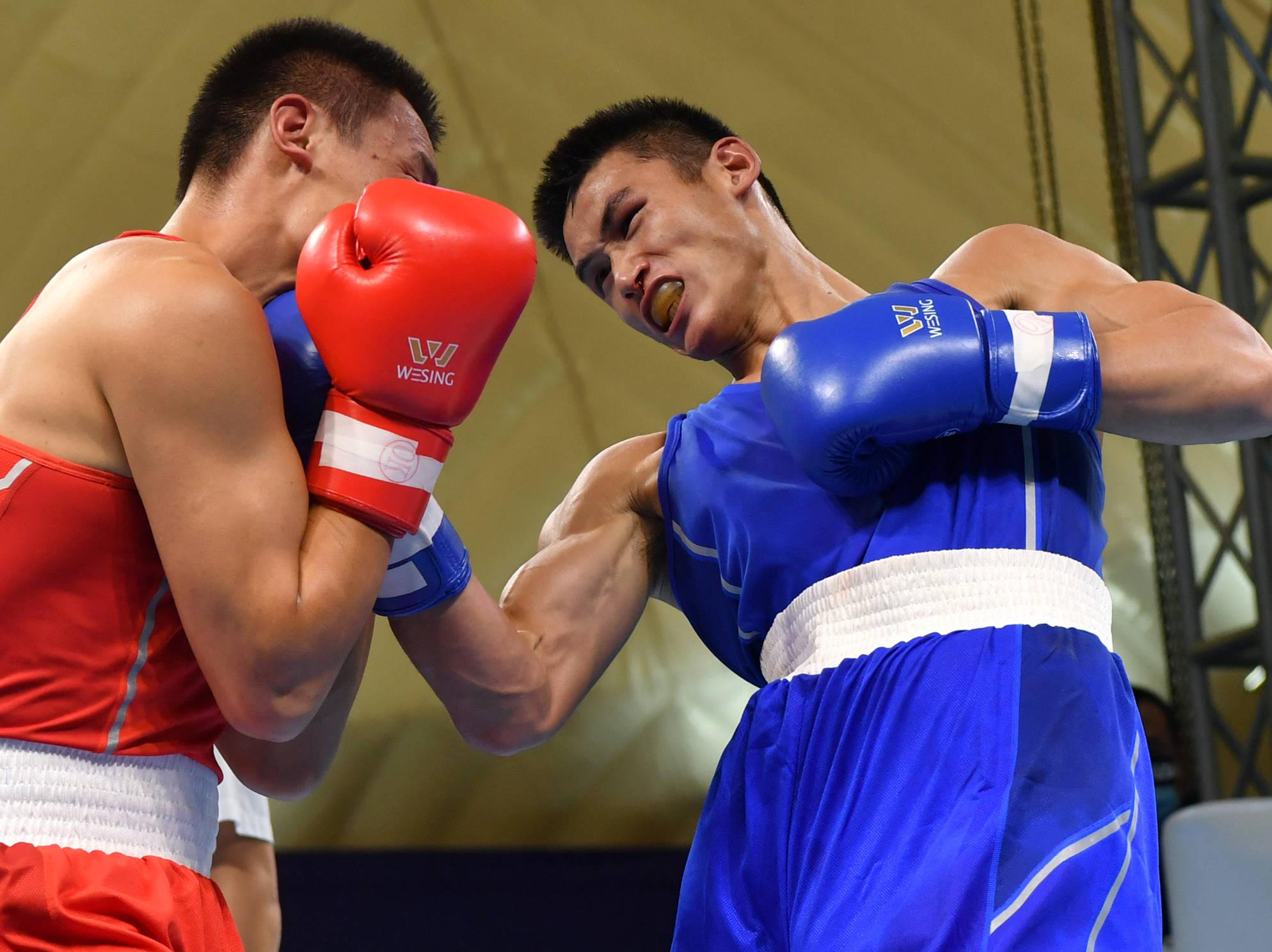 拳击——全国男子锦标赛:王港夺