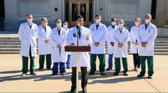 """白宫总统医生澄清:""""确诊72小时后""""是口"""