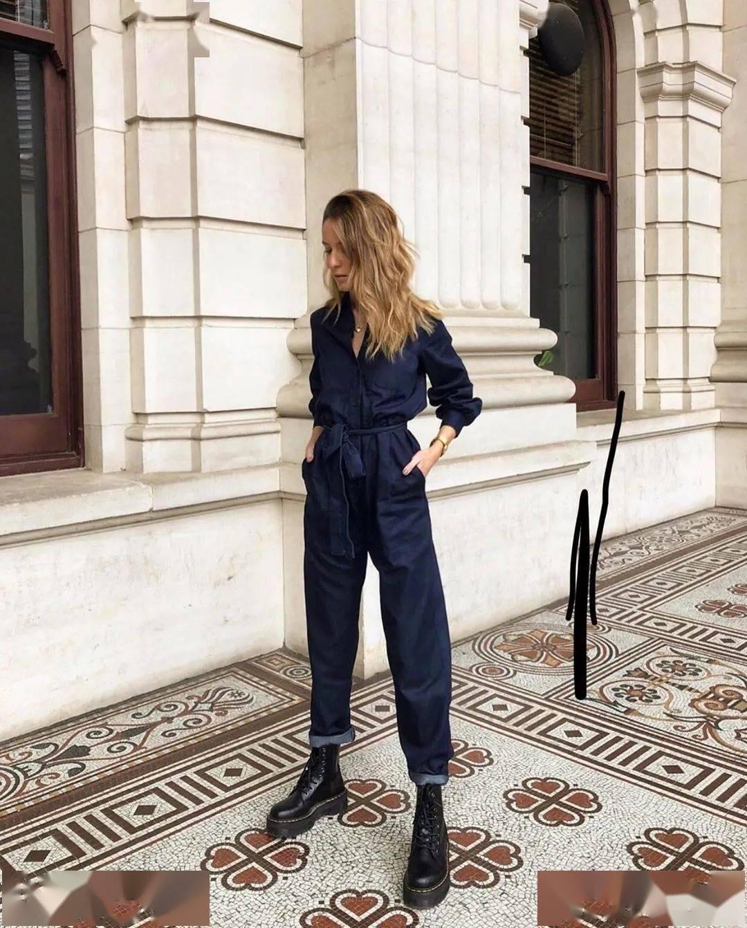 马丁靴+裙子,马丁靴+工装裤……又酷又撩,时髦炸了!     第48张