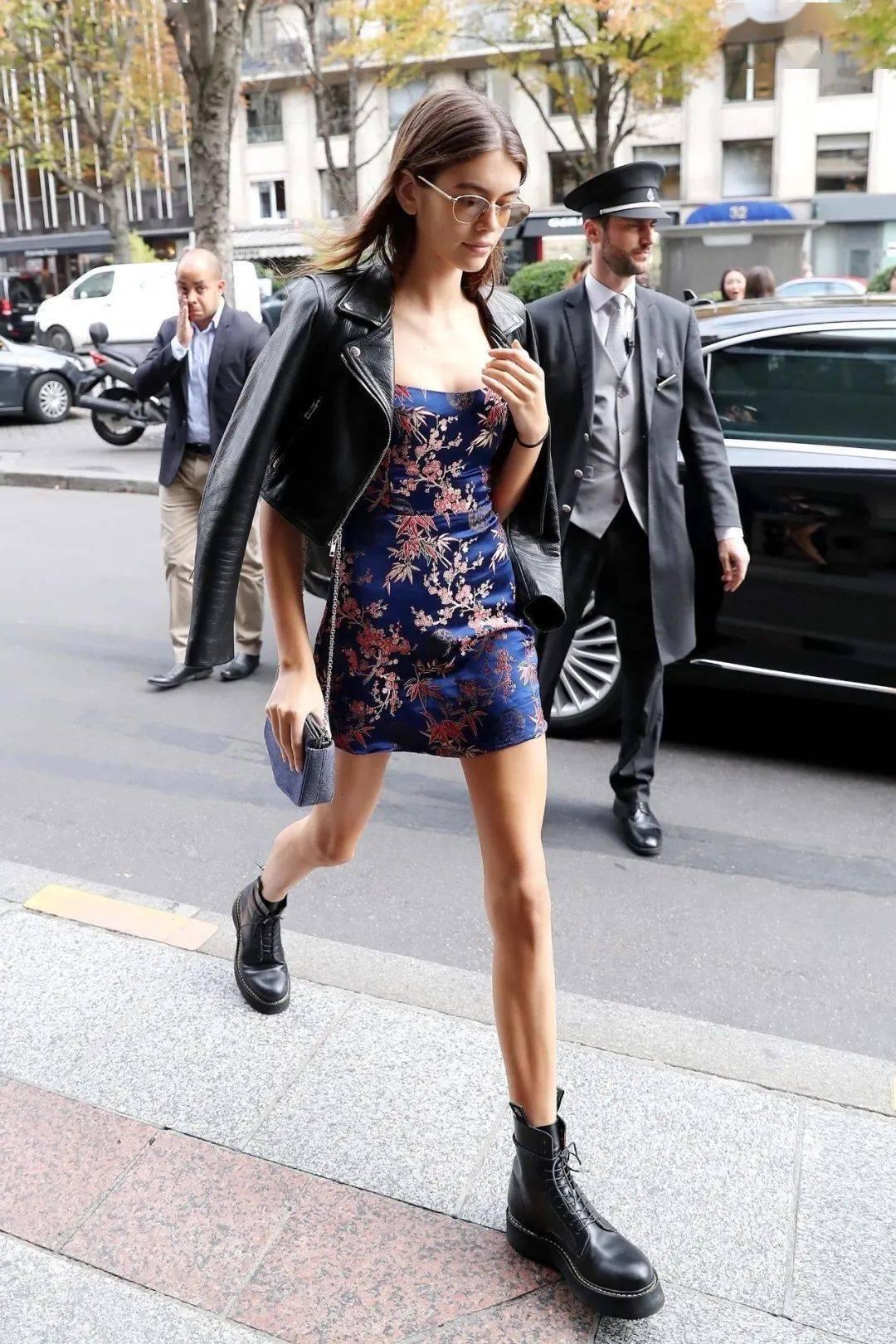 马丁靴+裙子,马丁靴+工装裤……又酷又撩,时髦炸了!     第22张