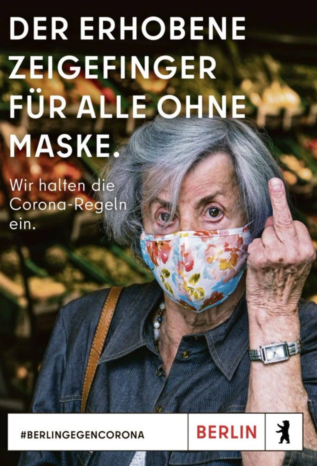 欧洲疫情反弹之际,柏林发了这么一个防疫广告