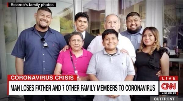 新冠病毒让他失去八名亲人,墨西哥移民的美国梦碎了