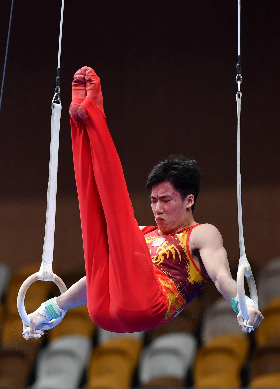体操——全国冠军赛:男子吊环决赛赛况