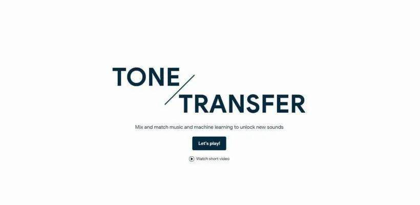 人工智能15秒扒调:Google推出的ToneTransfer能将任何