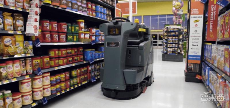 沃尔玛上线372台拖地机器人!未来将智能分析货架摆放