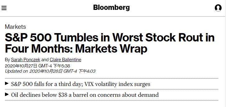北美观察丨疫情下的美国经济:美股再遭重创,三重打击来袭