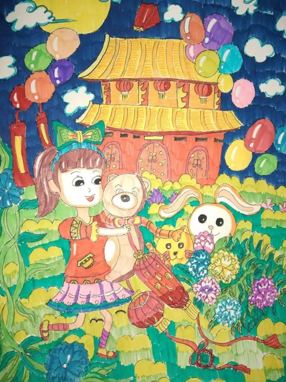 国庆节图画大全儿童画