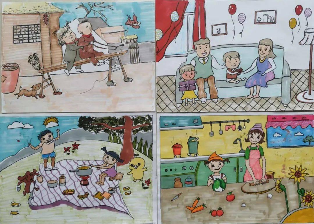 我的童年画画作品