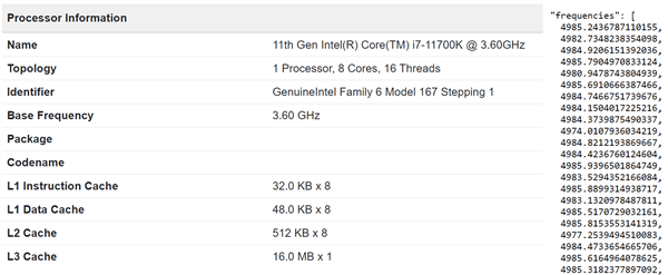 Intel 11代酷睿i7