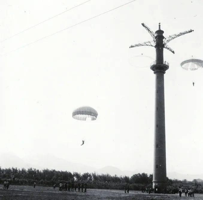去跳伞塔,跳伞