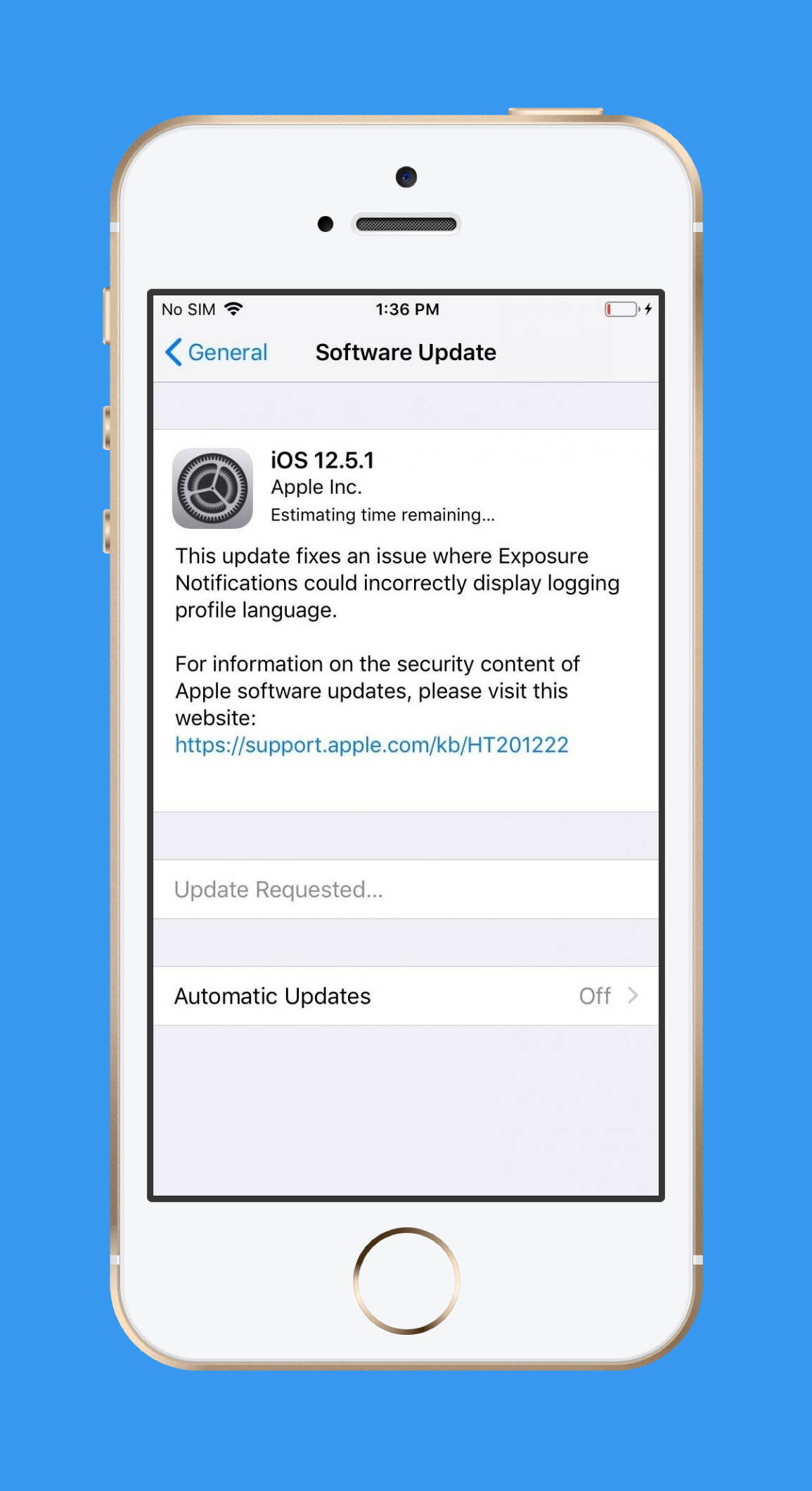 苹果为老机型推送 IOS 12.5.1 版本,修复暴露通知问题