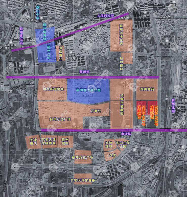 2021年首宗宅地爽约!蓟州新城板块超10万方地块无限期延期