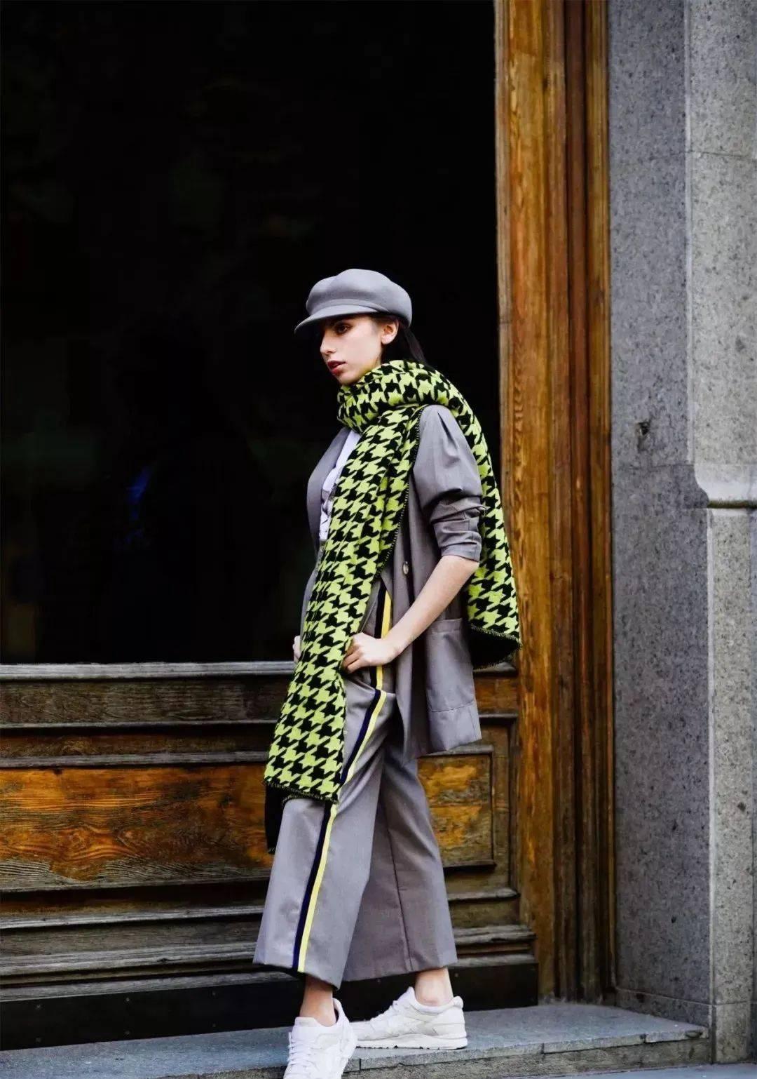 帽子+围巾,温暖又有范儿