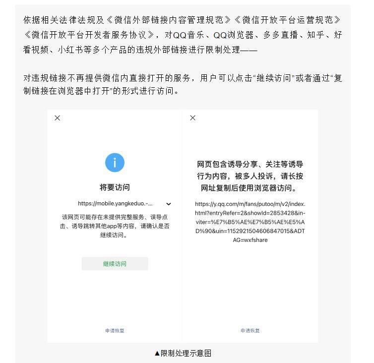拳打拼多多、小红书 脚踹QQ音乐 腾讯狠起来自家人的外链也屏蔽