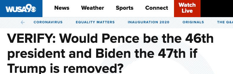 特朗普遭弹劾后还会发生什么?美国或在一周内产生两任总统?