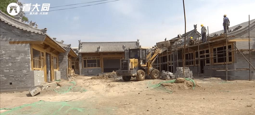 古城内,大同府衙修复保护工程进展顺利!