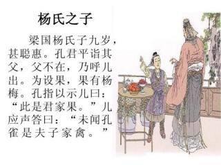 杨氏之子翻译和注释(杨氏之子译文简短)