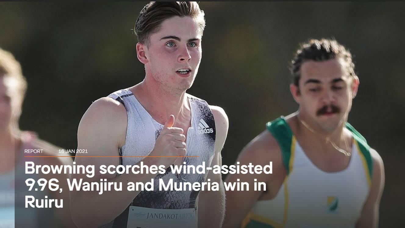 澳洲飞人飚出百米9秒96 90分钟后创澳洲60米洲纪录