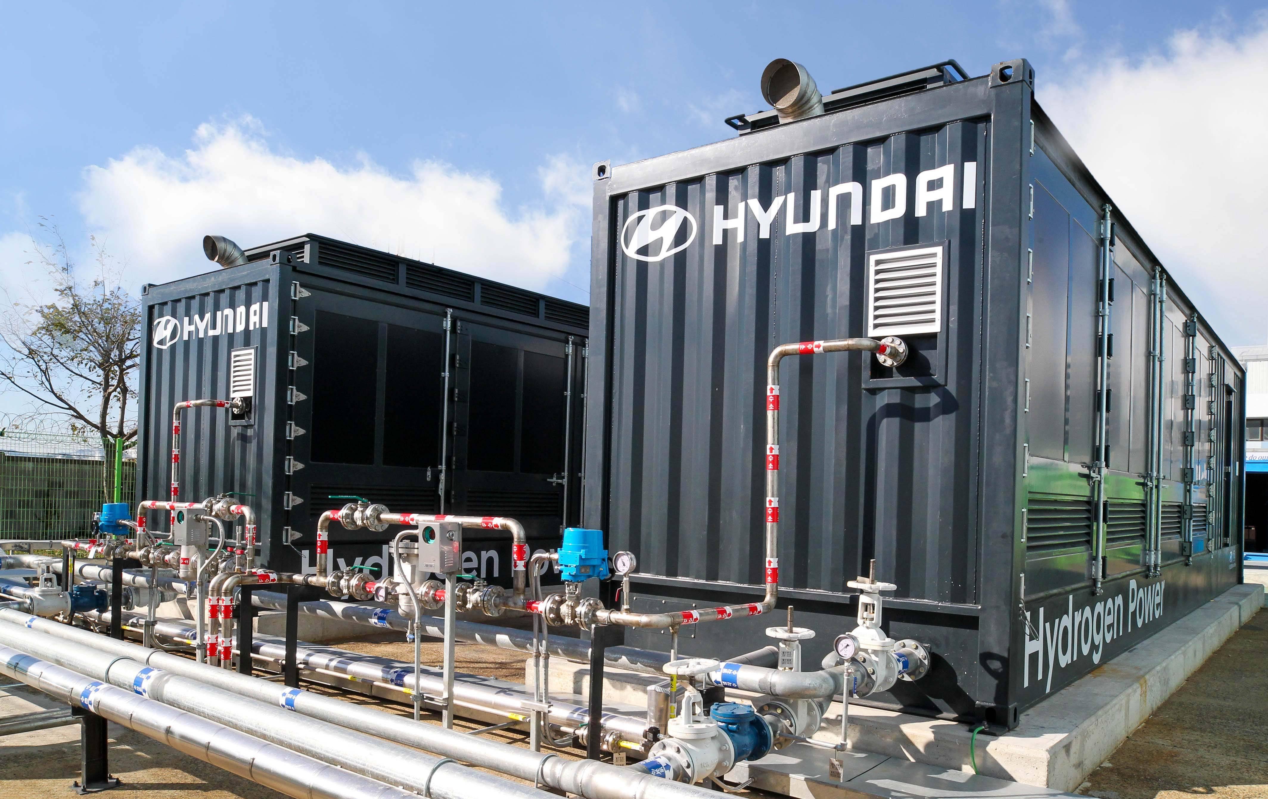 现代汽车公司的氢燃料电池发电项目已经完成,并开始示范运营