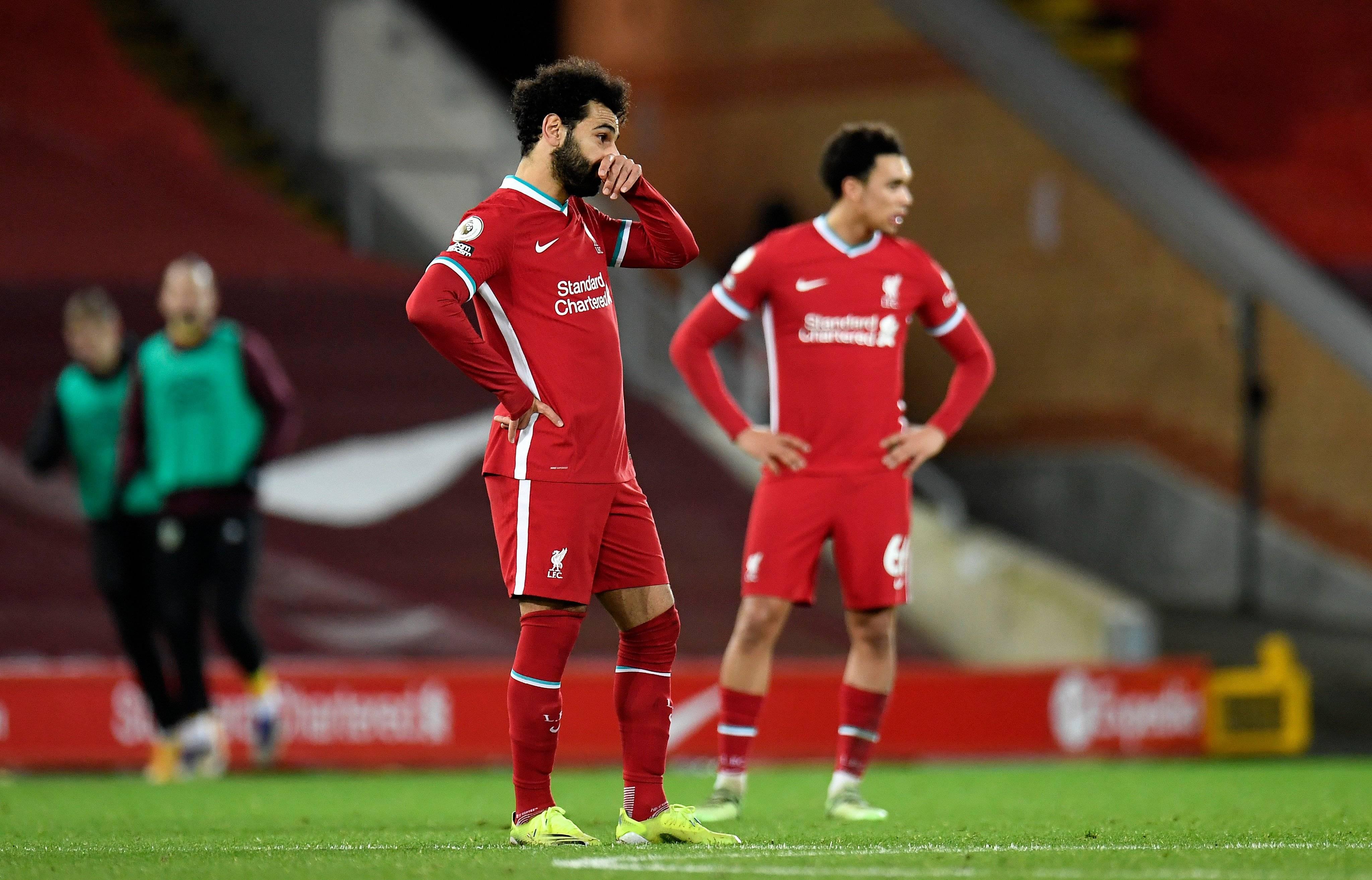 利物浦连续5轮不胜前4危在旦夕 已落后曼联达6分