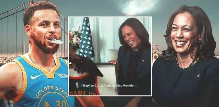 原创             喜气!美国57岁女副总统获赠NBA球衣!勇士队库里祝贺哈里斯