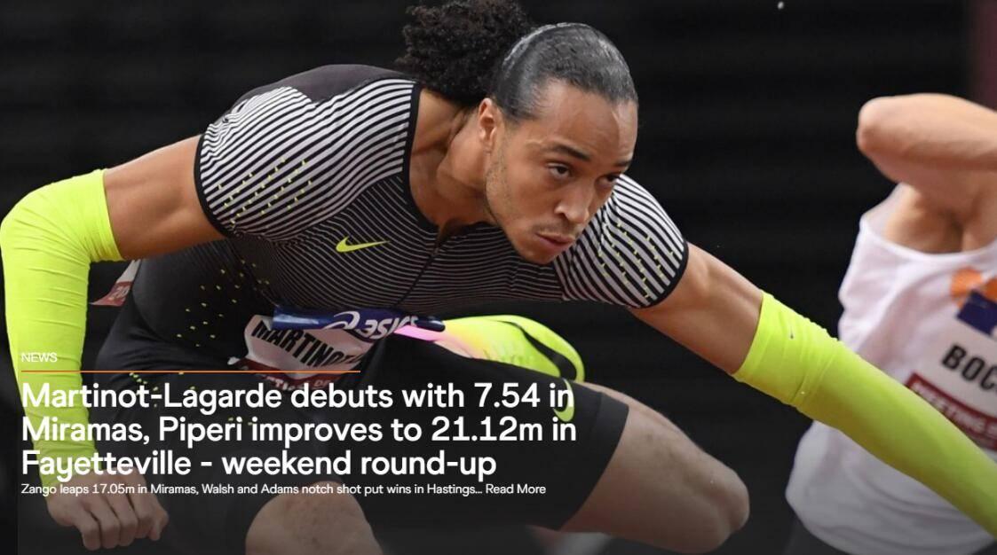 法国栏王首秀飚7秒54列世界第1 奥运有望冲击奖牌