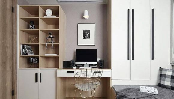 108㎡3房2卫装修,电视墙装柜子,榻榻米书房,设