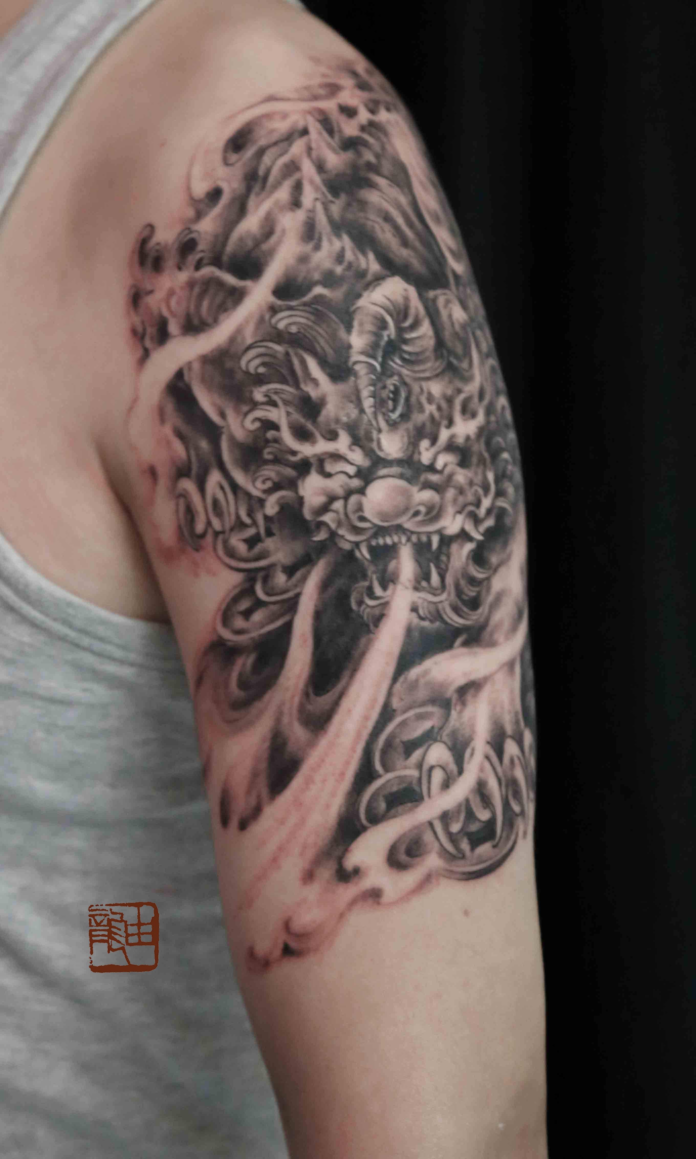 花臂顶级极品纹身图片