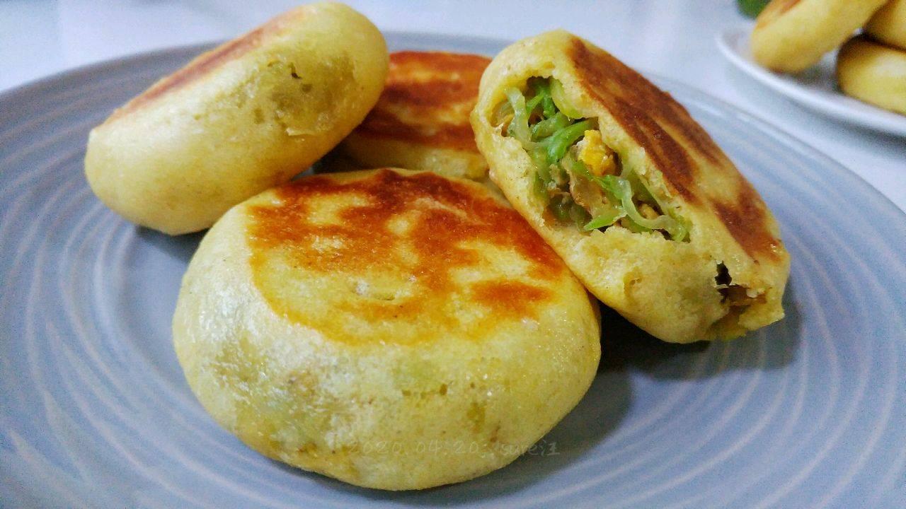 【虾葱金香玉米饼】的做法+配方,香喷喷的玉米饼,非常适合早餐