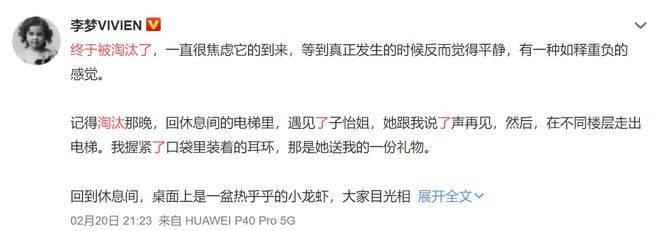 李梦告别《我就是演员3》:终于被淘汰了 一直焦虑它的到来