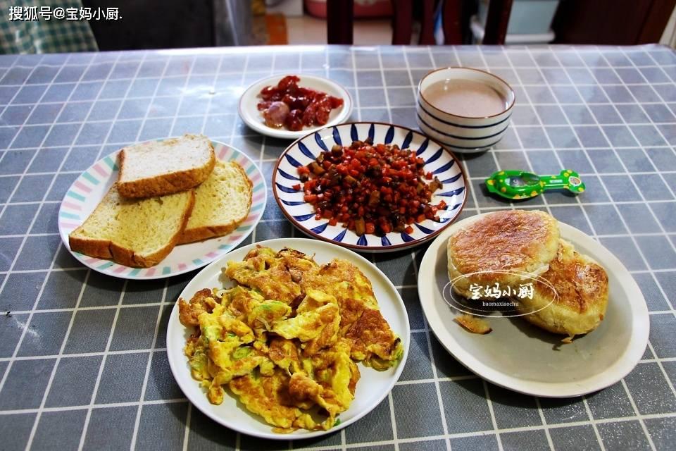 一家三口早餐,巧搭配,快手有营养,大人孩子吃着舒服