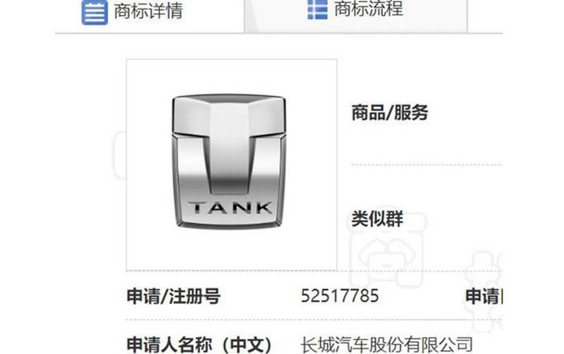当初学奇瑞?长城申请新坦克标志还是成为独立新品牌?