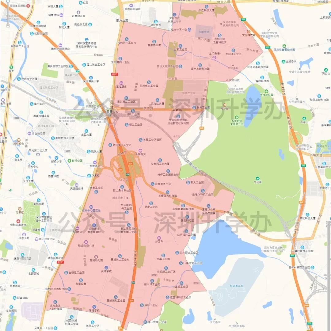 广东省深圳市宝安区地图高清版-宝安区卫星地图-... -出行地图网