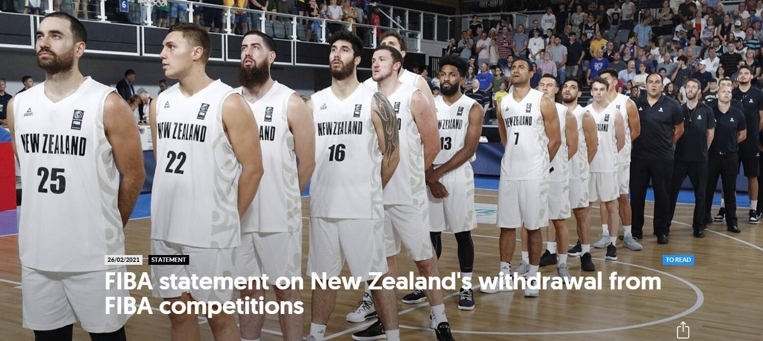 新西兰因疫情退出奥运落选赛