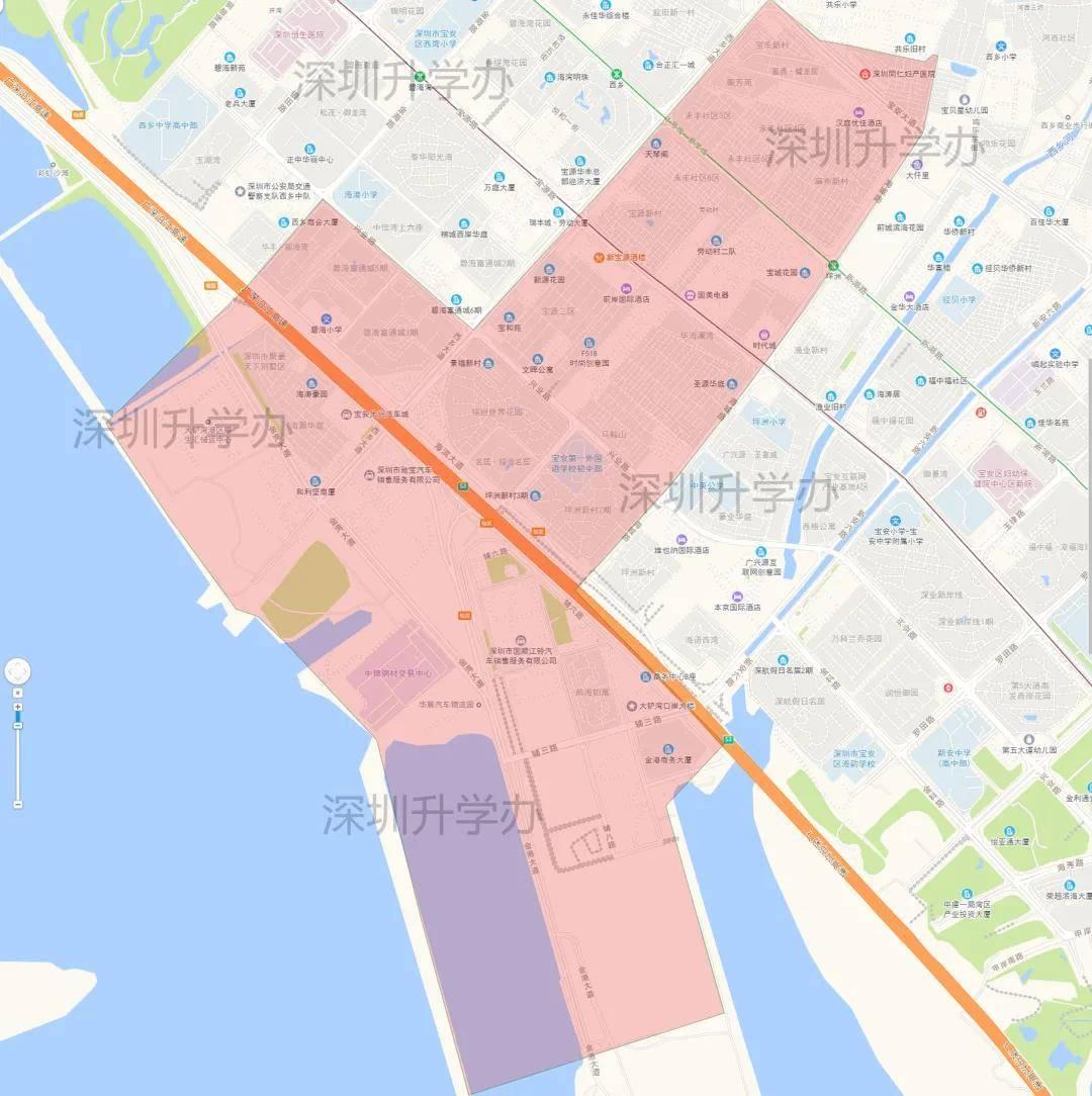 深圳市宝安区标准地图_深圳地图库_地图窝